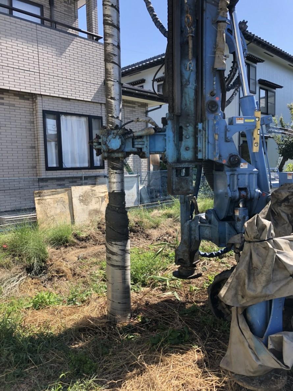 新潟市秋葉区の長期優良住宅M様邸新築工事、地盤改良を行いました