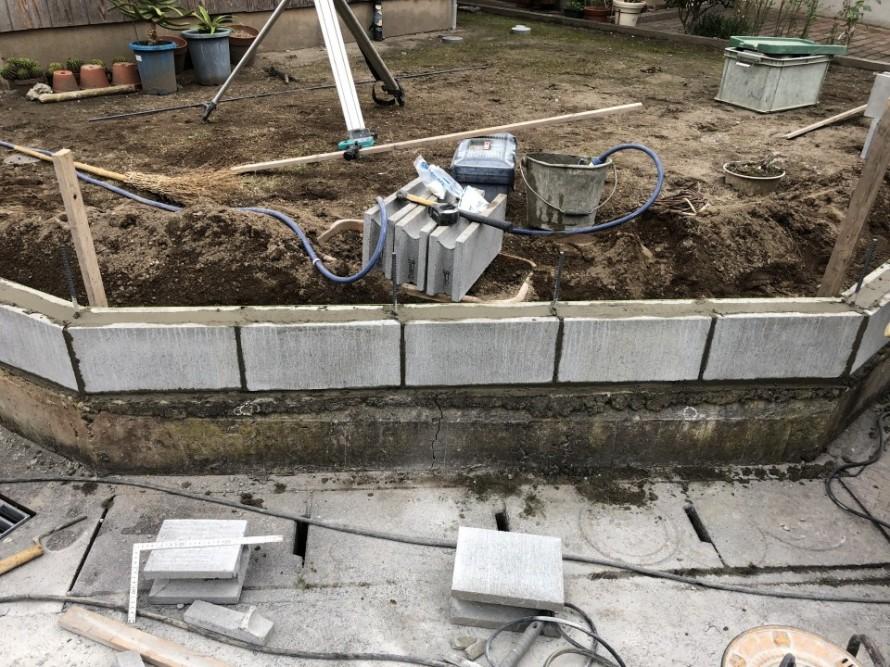 道路境界ブロック造り替え工事
