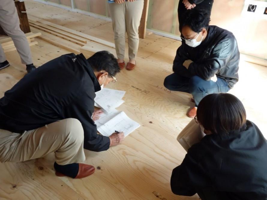 社内造作検査を行いました 新潟市江南区横越の家
