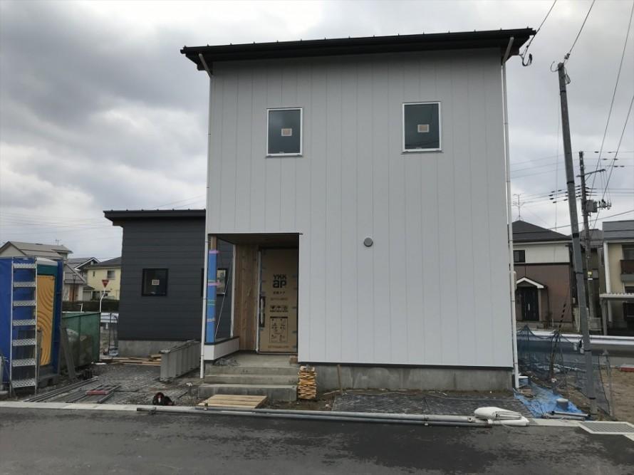 阿賀野市の家WAKURAS長期優良住宅H様邸 足場撤去されました。