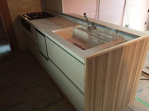 南区Y様邸 新築工事 キッチンの据付完了