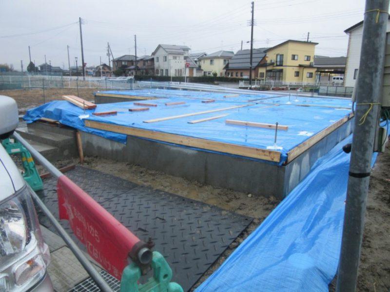 阿賀野市の家WAKURAS長期優良住宅H様邸、敷地養生も完了
