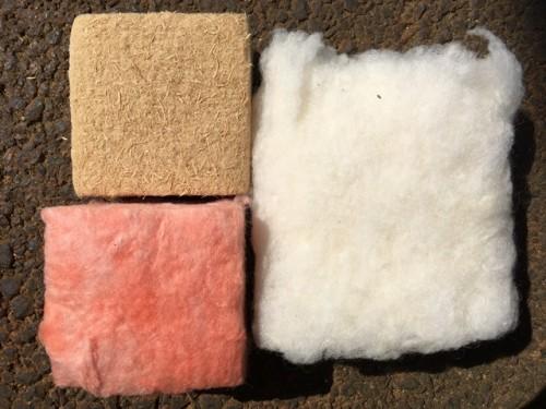 断熱材の色々。