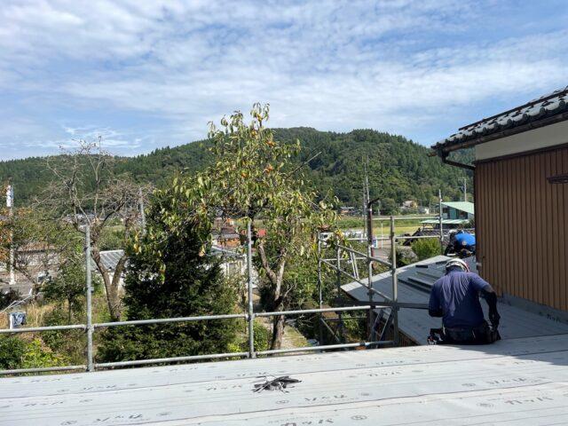加茂市で空き家の屋根葺き替え工事